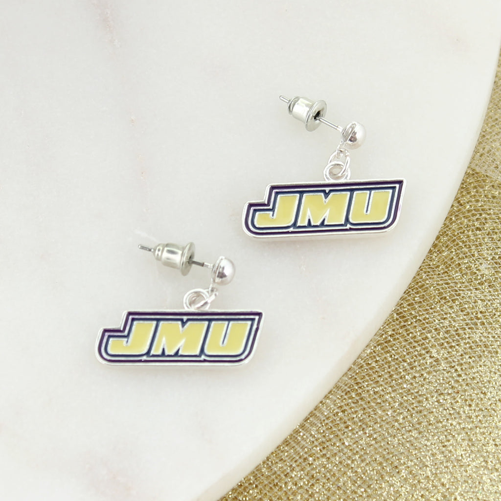 JMU Logo Enamel Earrings