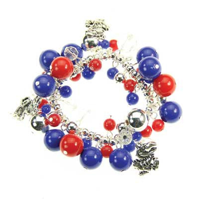 Seasons Jewelry Kansas Logo Bauble Bracelet