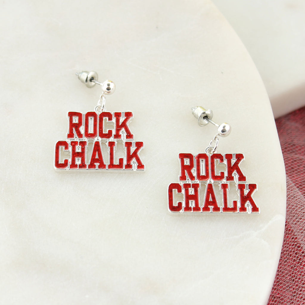 Kansas Slogan Earrings