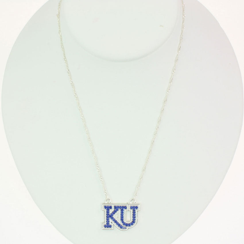 Kansas Crystal Logo Necklace