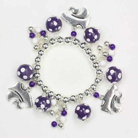 Kansas State Bauble Stretch Bracelet