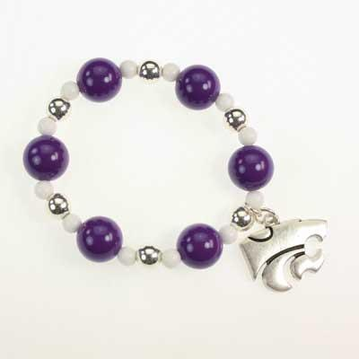 Seasons Jewelry Kansas State Stretch Bracelet