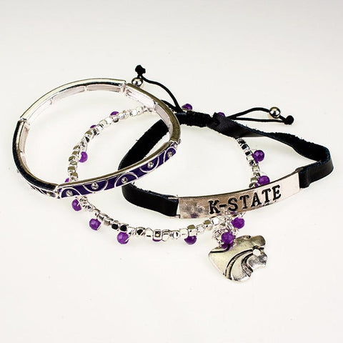 Kansas State Trio Bracelet Set