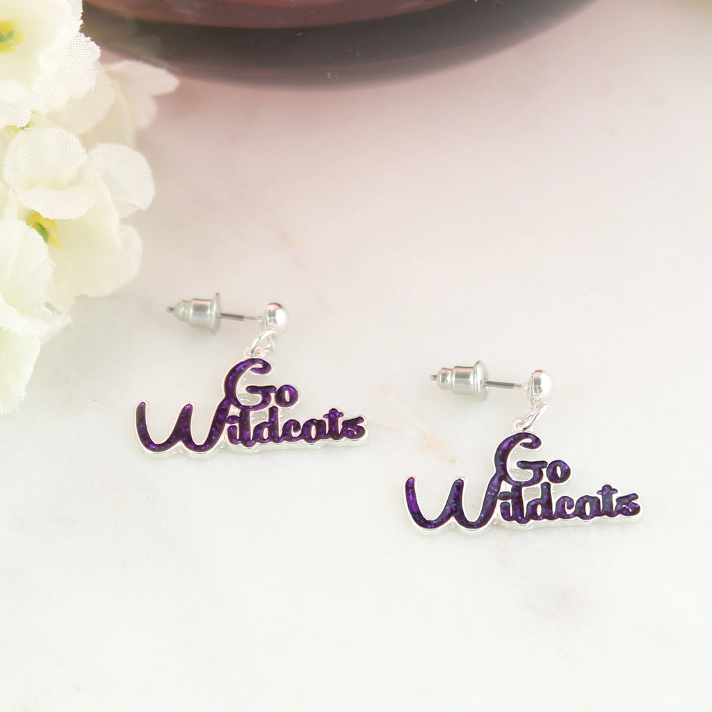 Kansas State Slogan Earrings