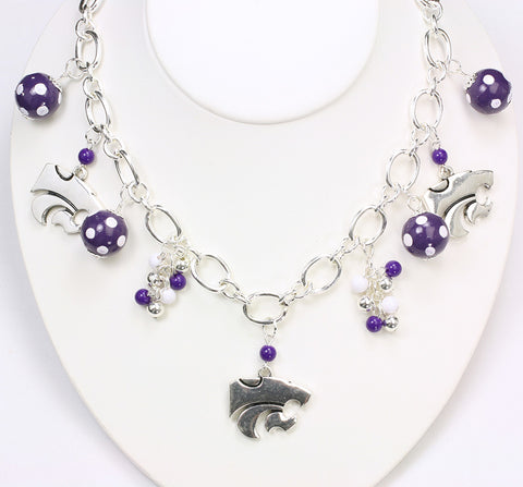 Kansas State Bauble Charm Necklace