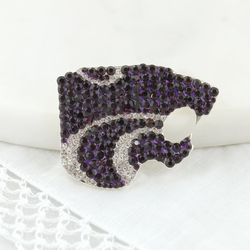 Kansas State Crystal Logo Pin