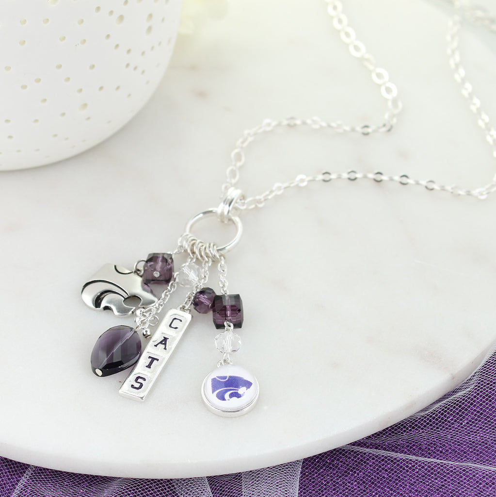Kansas State Cluster Necklace