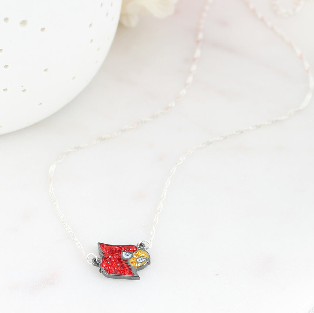 Louisville Crystal Logo Necklace