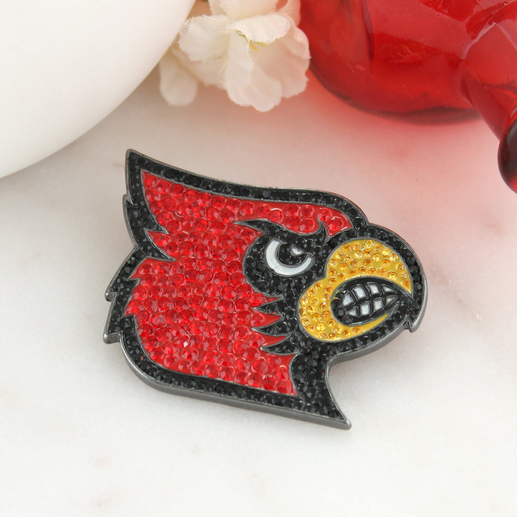 Louisville Crystal Logo Pin