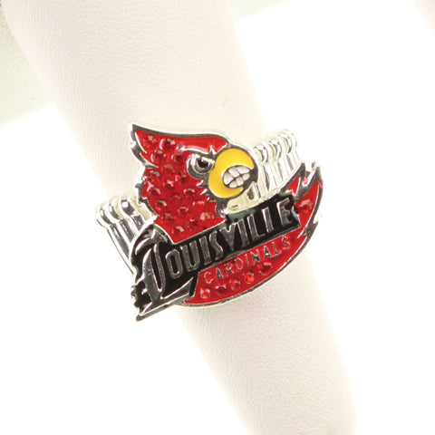 Seasons Jewelry Louisville Crystal Logo Stretch Ring