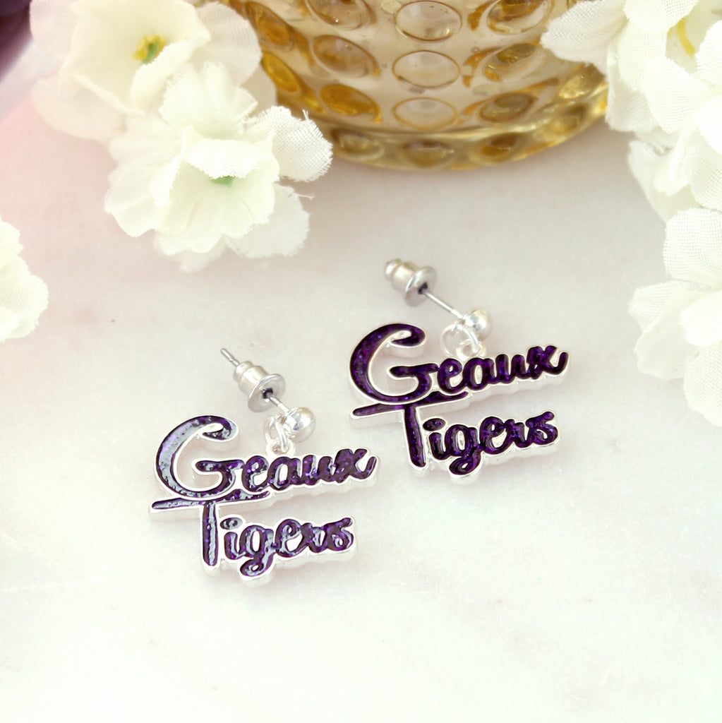 LSU Slogan Earrings