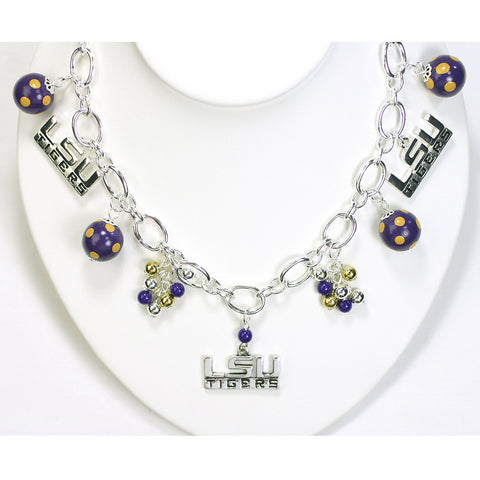 LSU Bauble Charm Necklace
