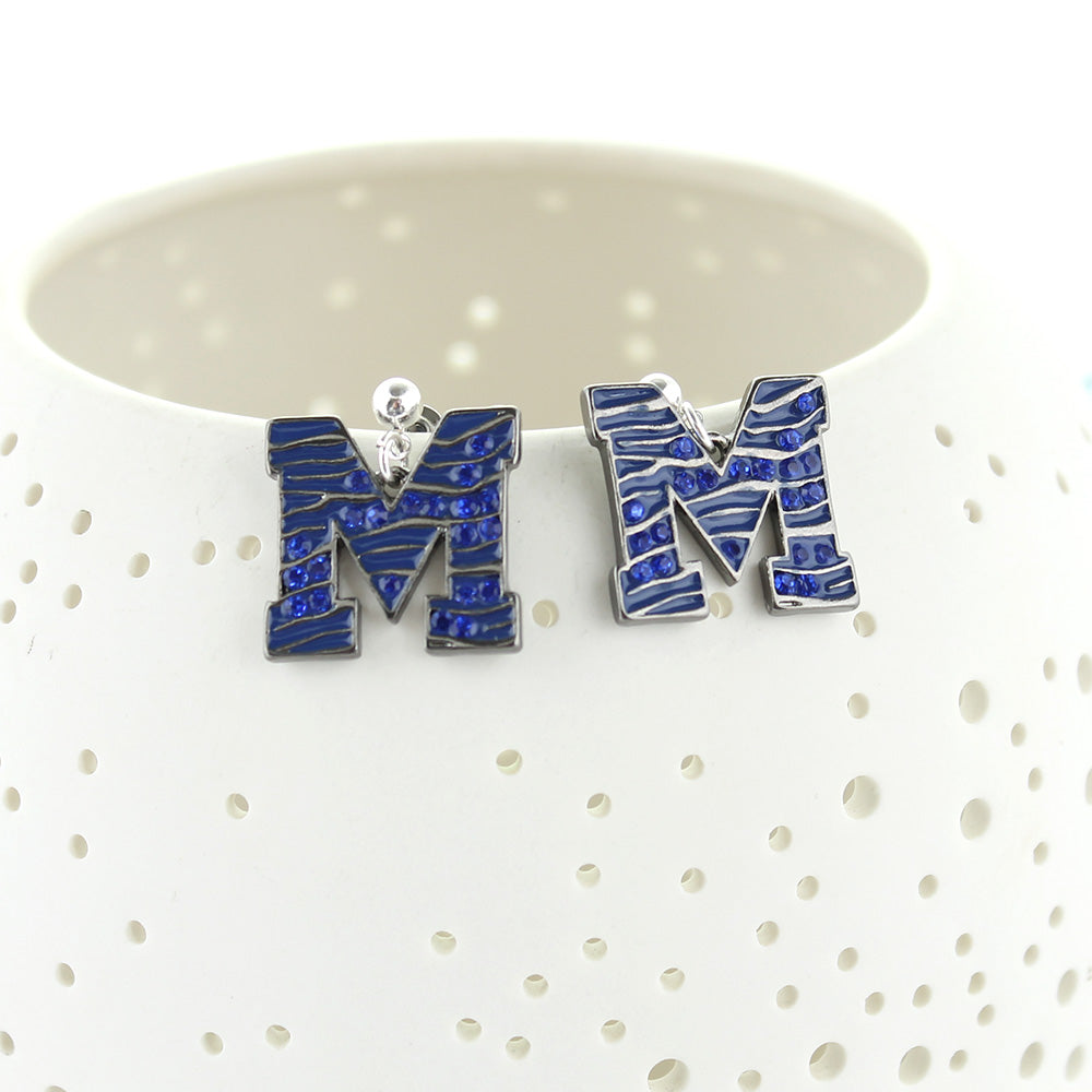Memphis Crystal Logo Earrings