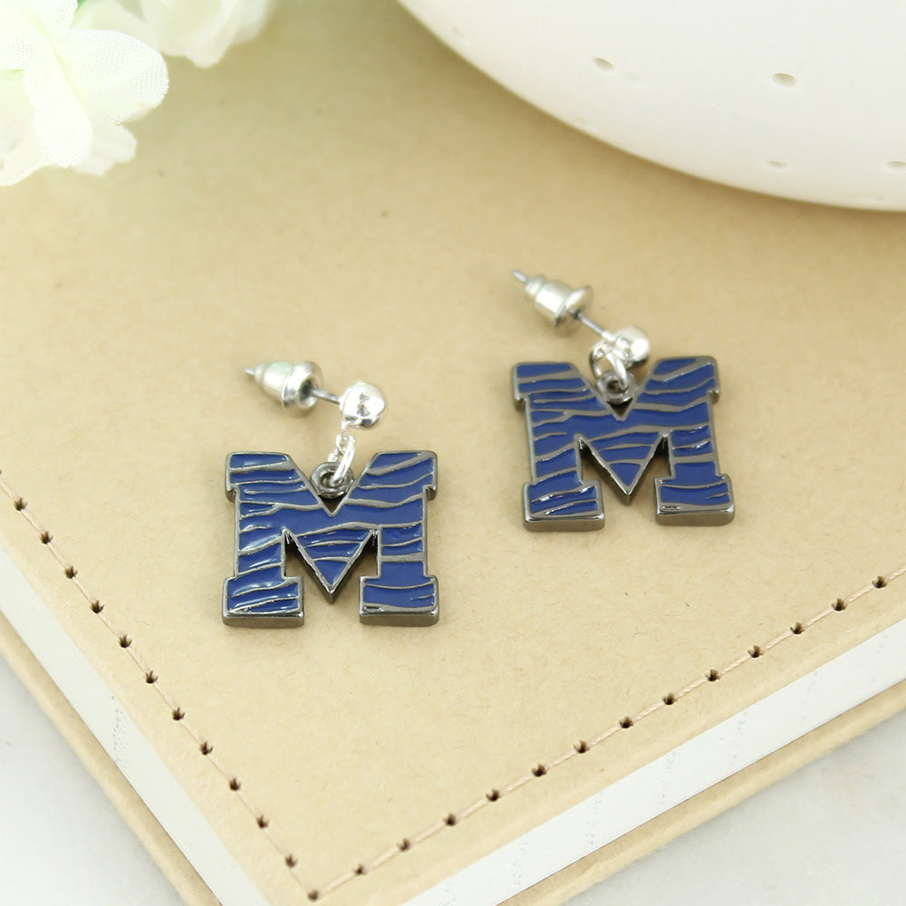 Memphis Enamel Logo Earrings
