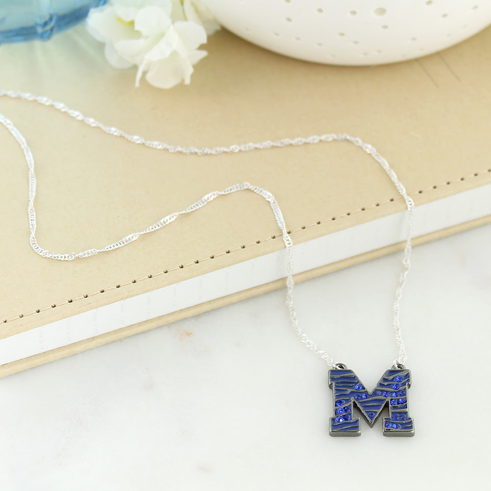 Memphis Crystal Logo Necklace