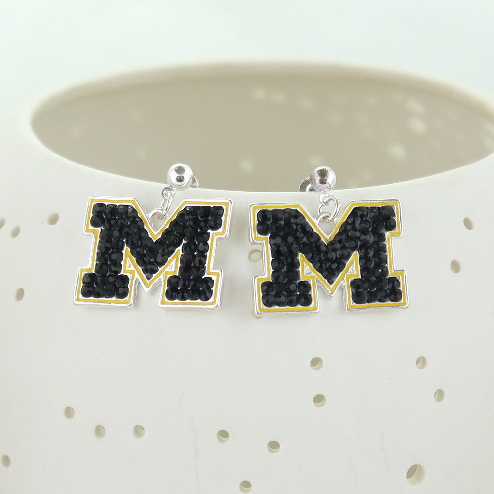 Michigan Crystal Earrings