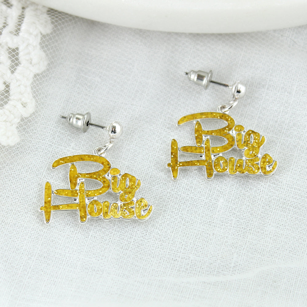 Michigan Slogan Earrings