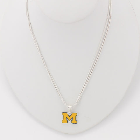 Michigan Enamel Logo Necklace