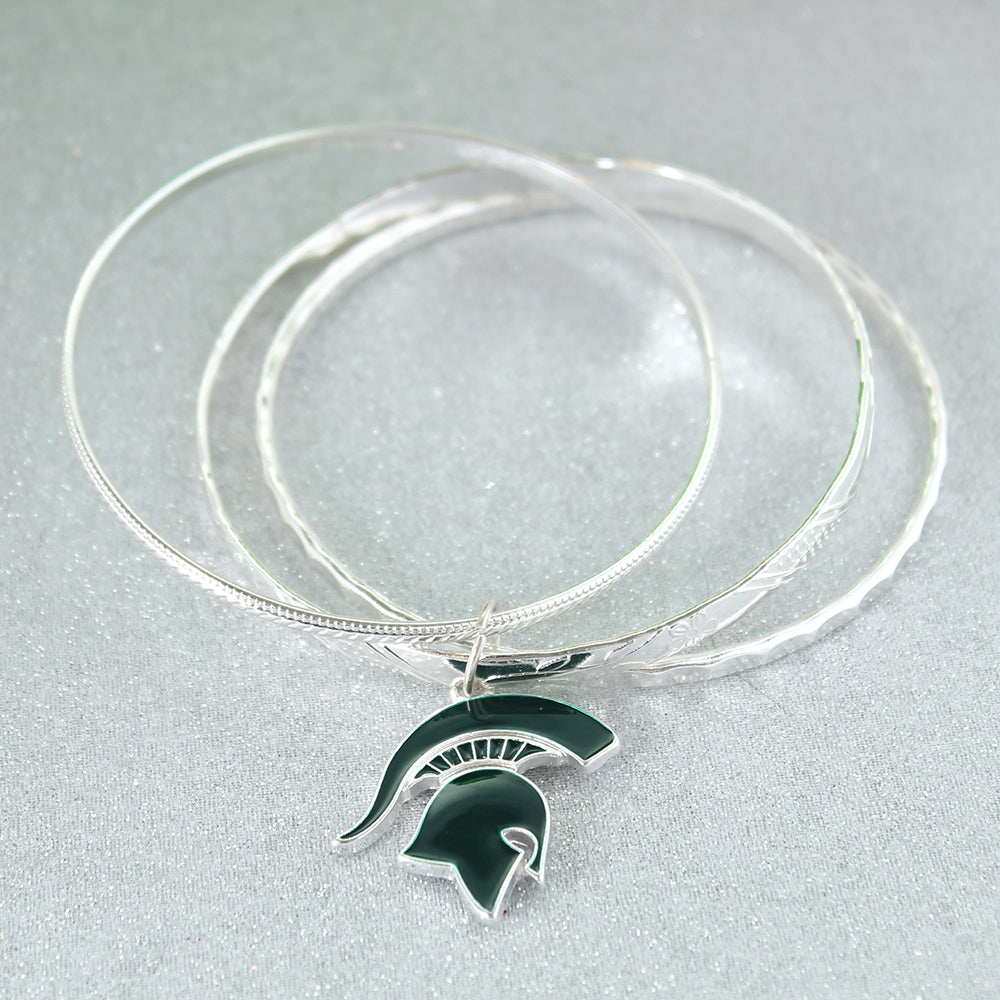 Michigan State Logo Bangle Bracelets