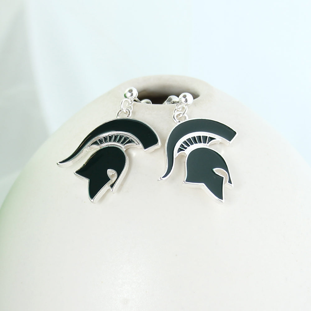 Michigan State Enamel Logo Earrings
