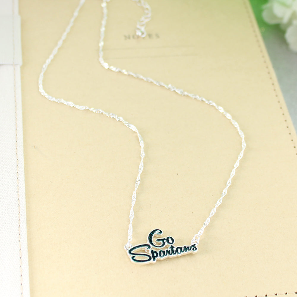 Michigan State Slogan Necklace