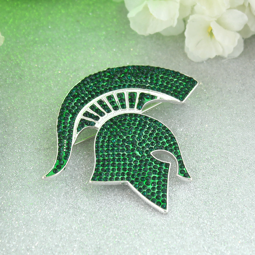Michigan State Crystal Logo Pin