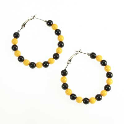 Seasons Jewelry Missouri Beaded Hoop Earrings