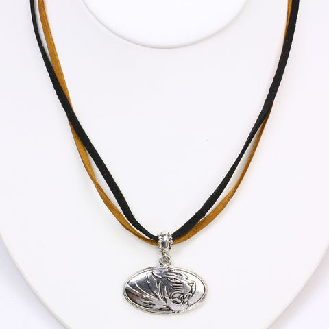 Missouri Logo Double Suede Cord Necklace