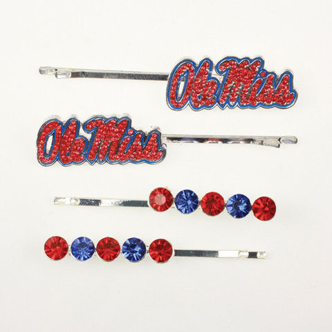 Seasons Jewelry Mississippi Crystal Logo Hair Pin Set