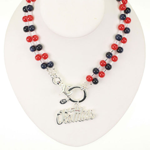 Seasons Jewelry Mississippi Beaded Logo Necklace