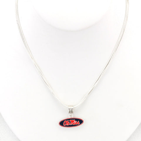 Mississippi Enamel Logo Necklace