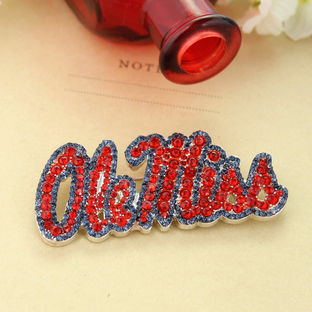 Mississippi Crystal Logo Pin