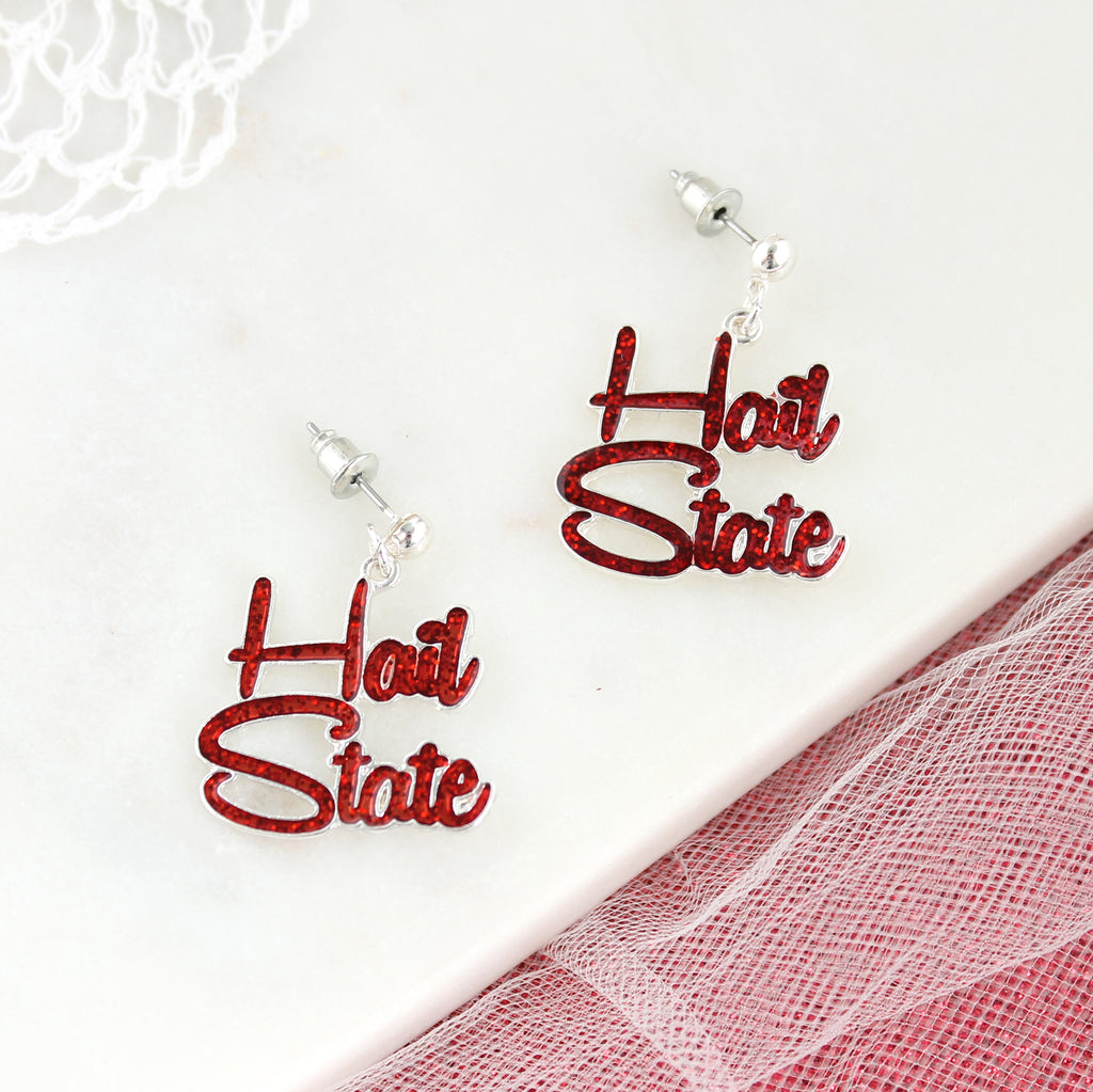 Mississippi State Slogan Earrings