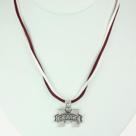 Seasons Jewelry Mississippi State Logo 16 inch Necklace