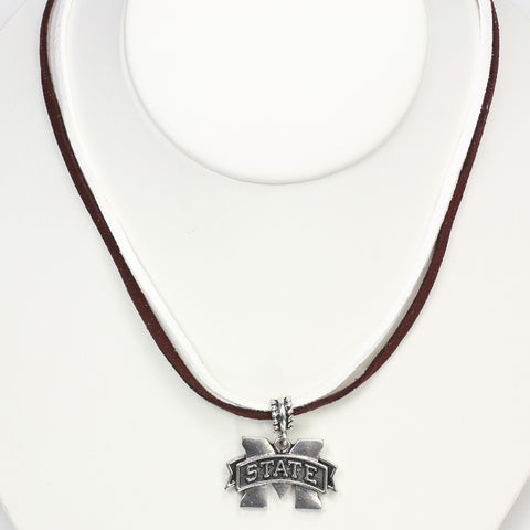 Mississippi State Logo Double Suede Cord Bracelet