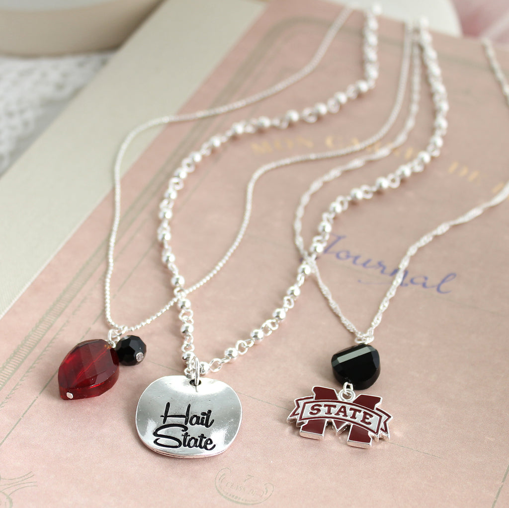 Mississippi State Trio Necklace Set