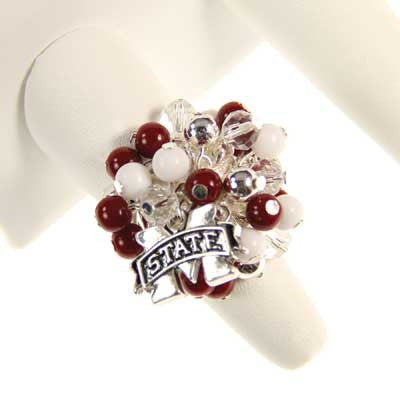 Seasons Jewelry Mississippi State Logo Bauble Ring