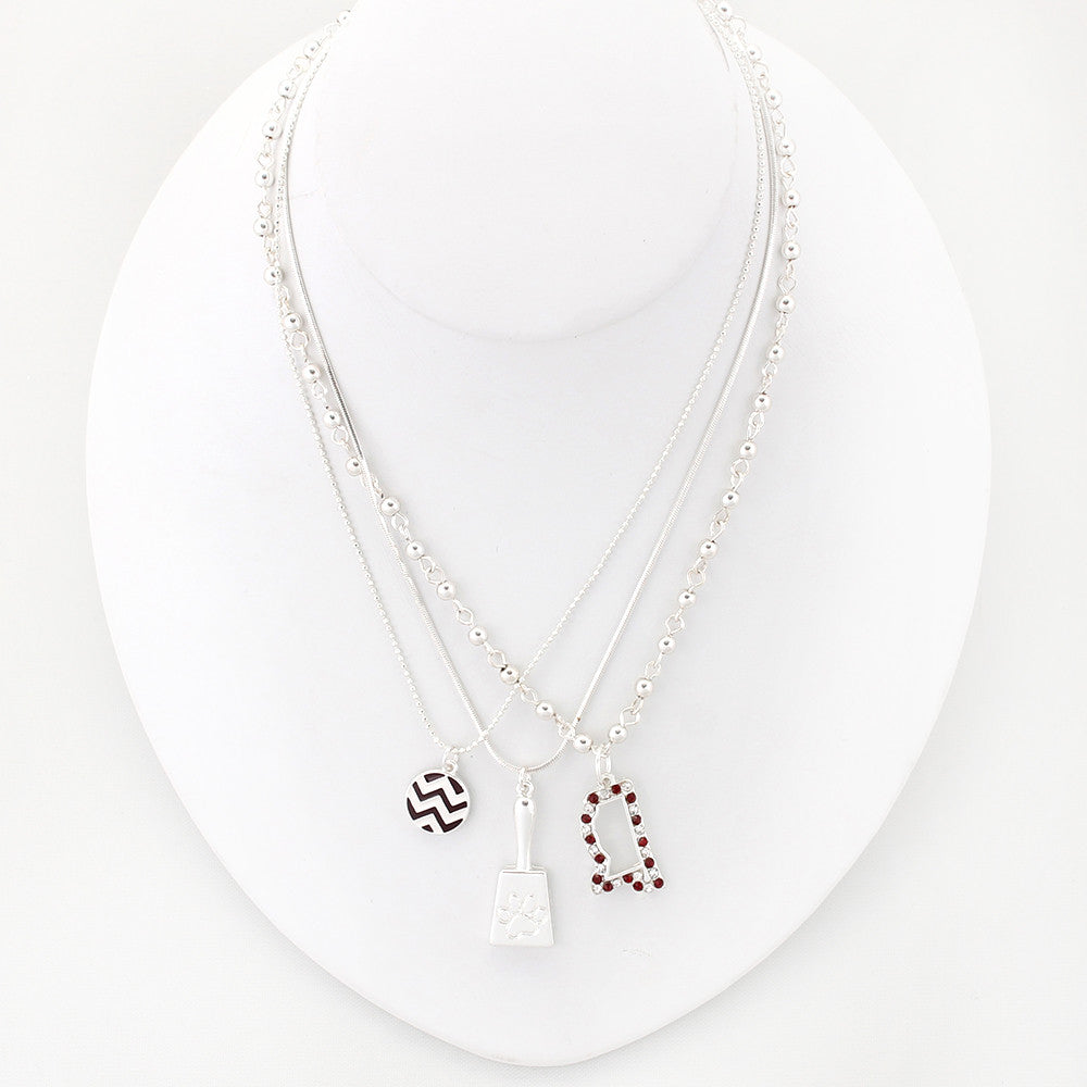 Mississippi State Traditions Trio Necklace