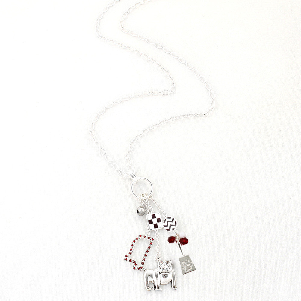 Mississippi State Traditions Cluster Necklace