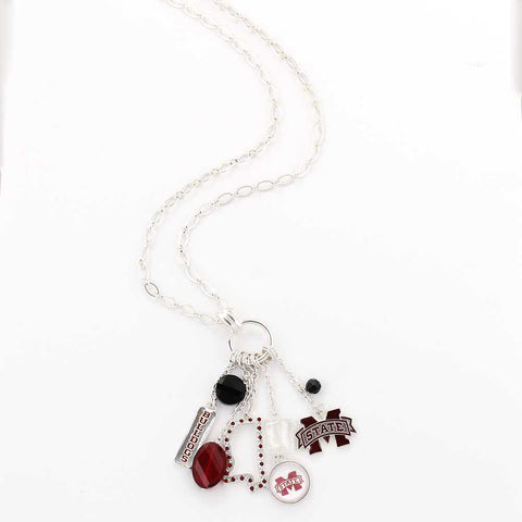 Mississippi State Cluster Necklace