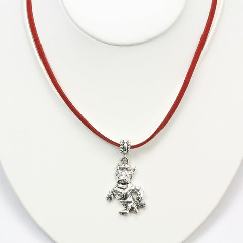 NC State Logo Double Suede Cord Necklace