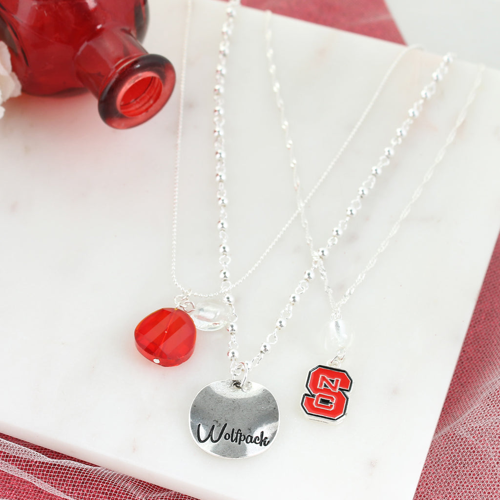NC State Trio Necklace Set