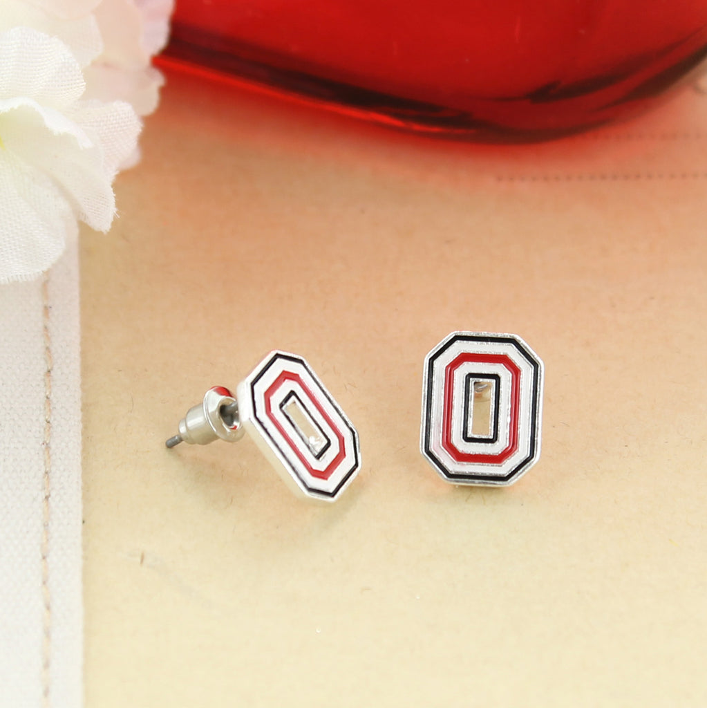 Ohio State Enamel Logo Stud Earrings
