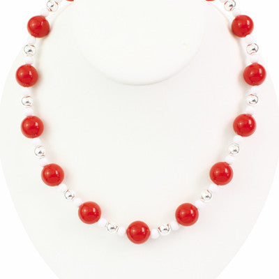 Seasons Jewelry Ohio State Beaded Stretch Necklace