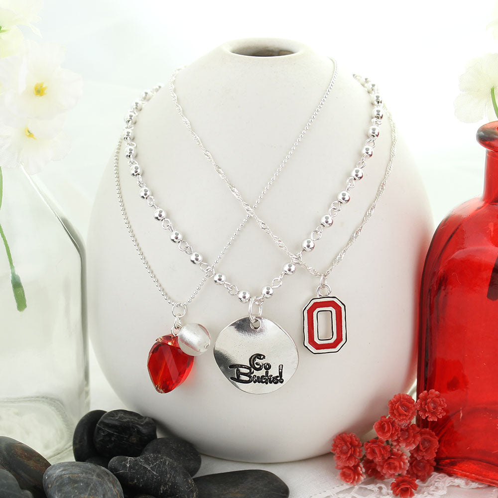 Ohio State Trio Necklace Set