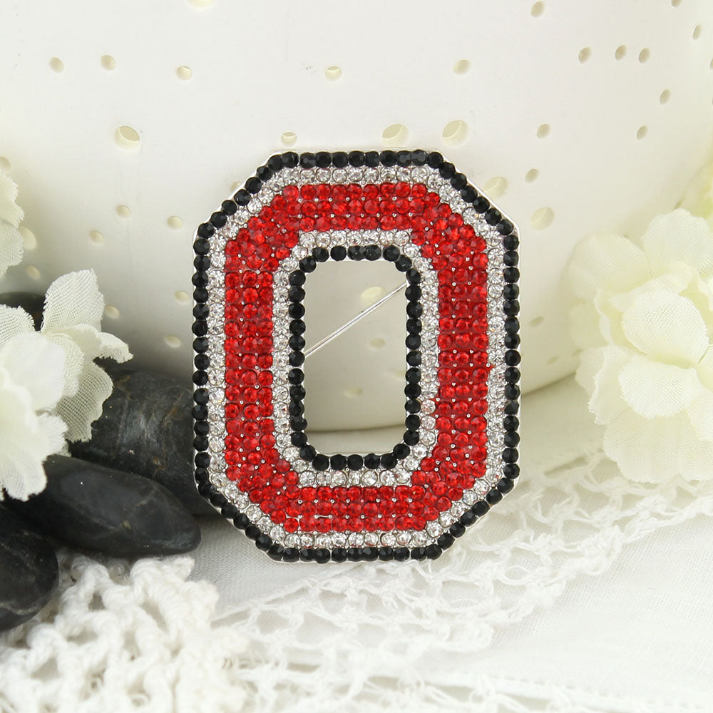 Ohio State Crystal Logo Pin