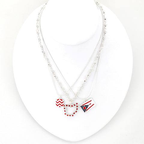 Ohio State Traditions Trio Necklace