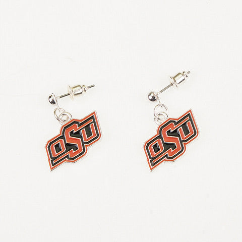 Seasons Jewelry Oklahoma State Enamel Logo Earrings