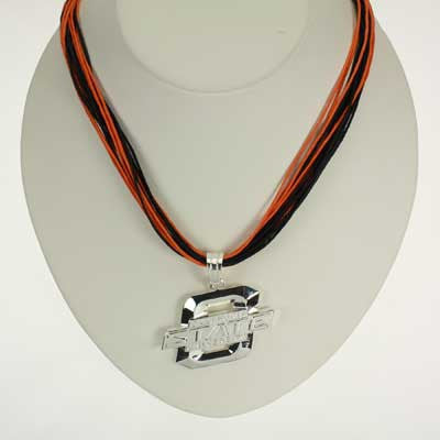 Seasons Jewelry Oklahoma State Logo Multi-Cord 18