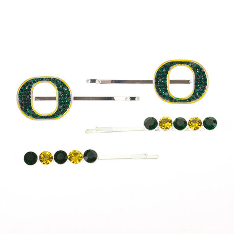 Seasons Jewelry Oregon Crystal Logo Hair Pin Set